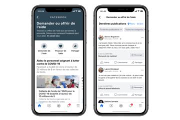 Facebook Community Help pour faire face au coronavirus