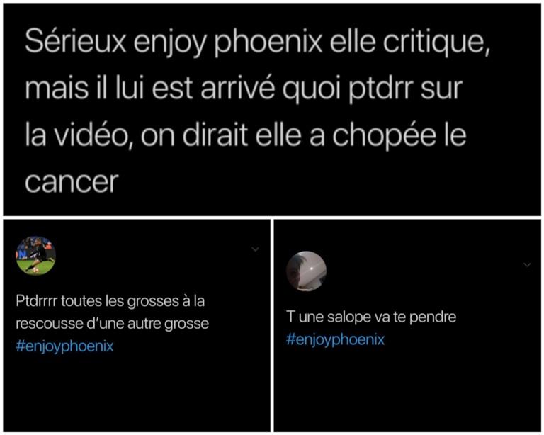 EnjoyPhoenix insultes reçues