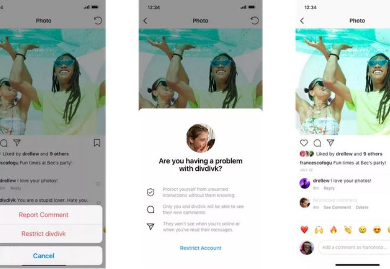 """Instagram lance la fonctionnalité """"Restrict"""""""
