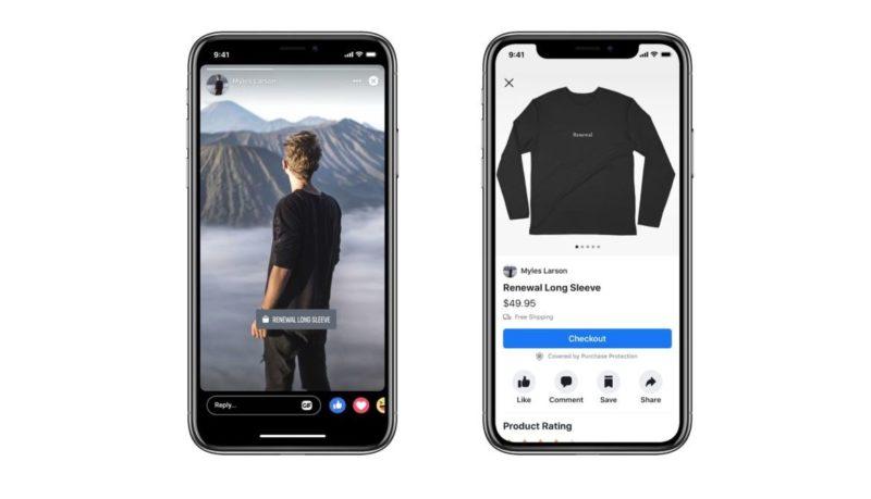 stories facebook e-commerce