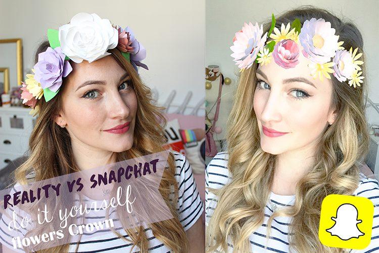 La blogueuse Tiboudnez recrée la couronne de fleurs de Snapchat