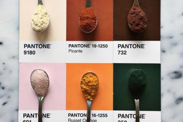@LuciaLitman, les aliments associés aux couleurs Pantone