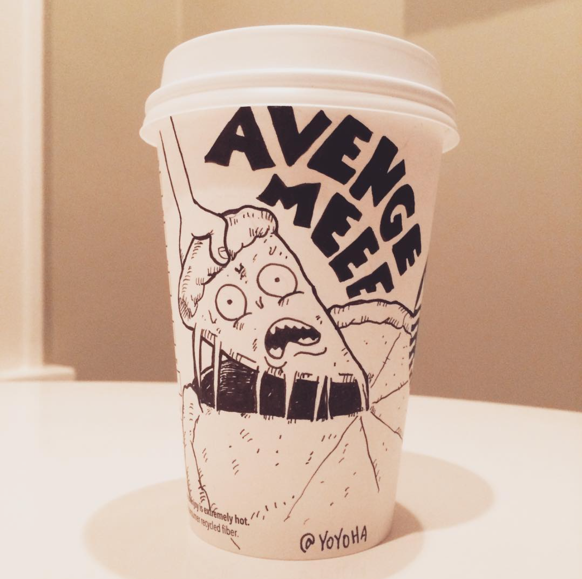 Yoyoha, les cartoons sur les gobelets Starbucks