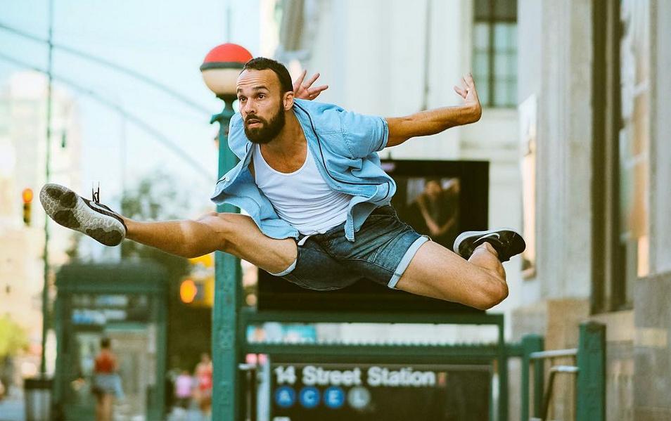 Danseur de ballet dans les rues de New York