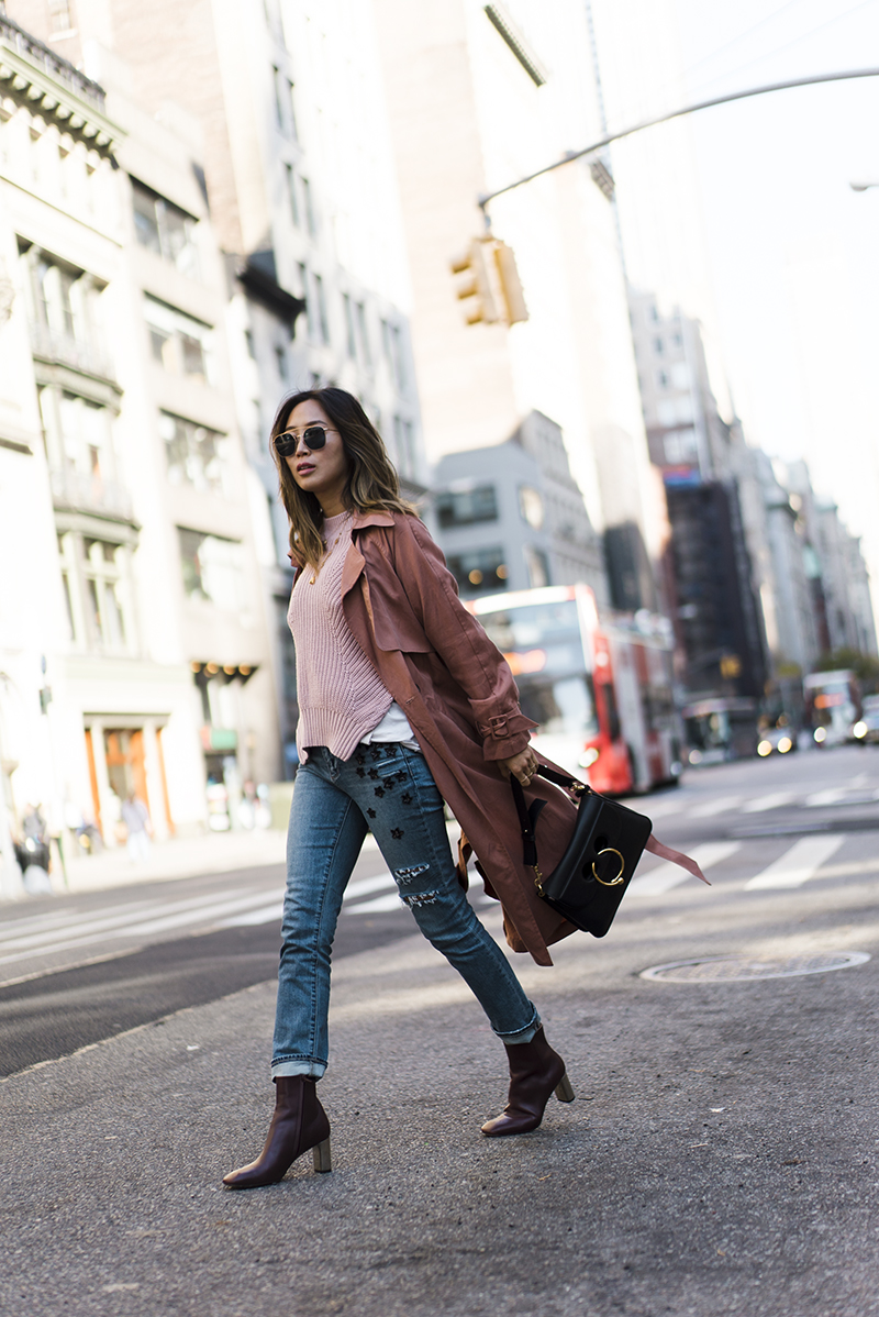 aimee_song_of_style_nyc_michelle_mason_trench_paige_denim_celine_boots_jw_anderson_bag_self_portrait_sweater-1