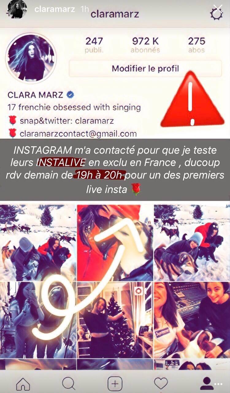 story instagram clara marz