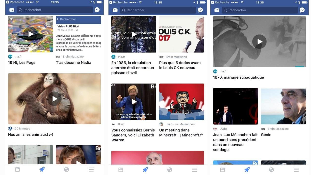 """Facebook onglet """"fusée"""""""