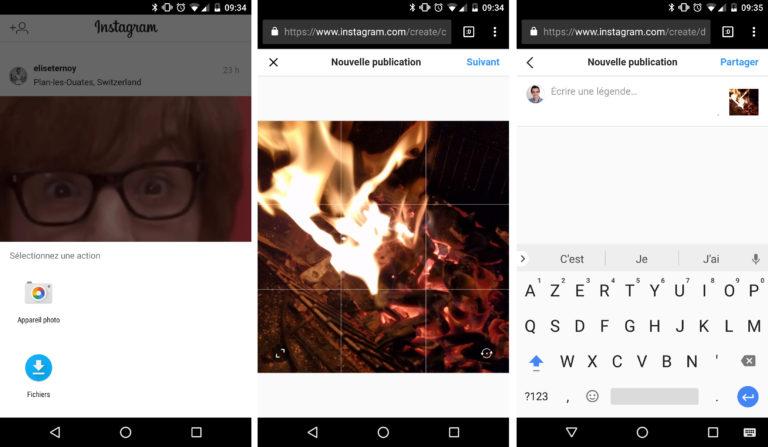 Vous pouvez désormais publier sur Instagram depuis le site