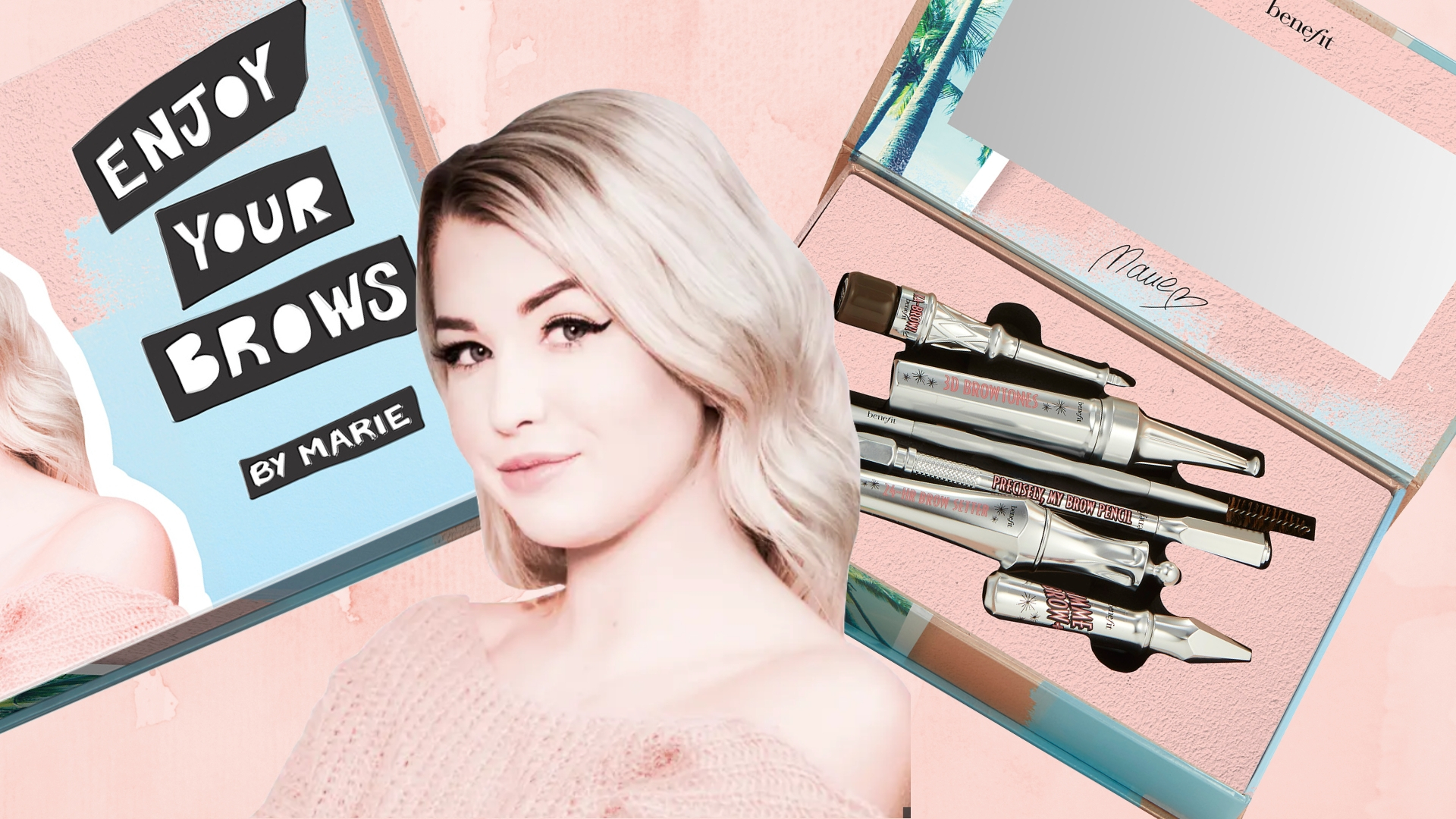 "ENJOYPHOENIX X BENEFIT : LA YOUTUBEUSE LANCE LE KIT ""ENJOY YOUR BROWS"""