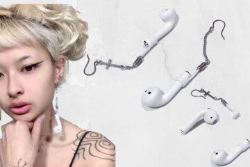 Elle transforme ses Airpods en boucles d'oreilles sur Twitter