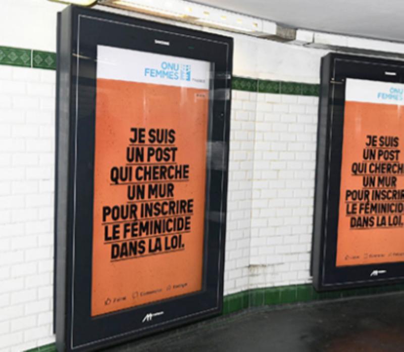 Campagne métro contre les féminicides