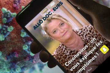 Allô Docteur sur Snapchat pour parler coronavirus