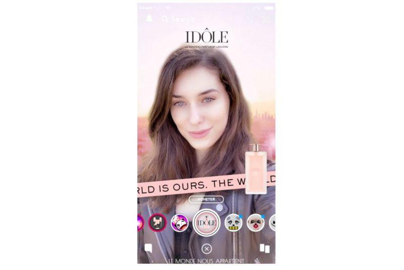 Lancome s'associe à Snapchat avec les lenses