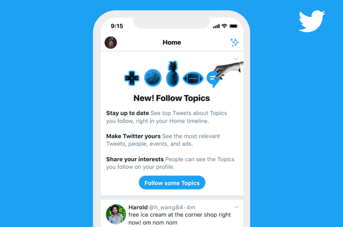 Twitter lance Topics