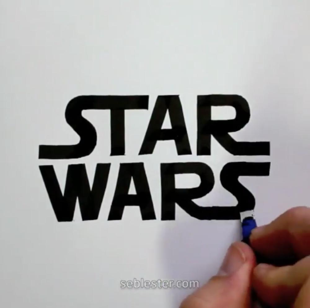 SebLester, les calligraphies à la main