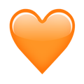 emoji coeur orange influenth