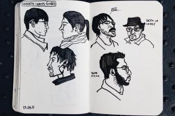 FlorentChau, les dessins griffonnés dans le métro