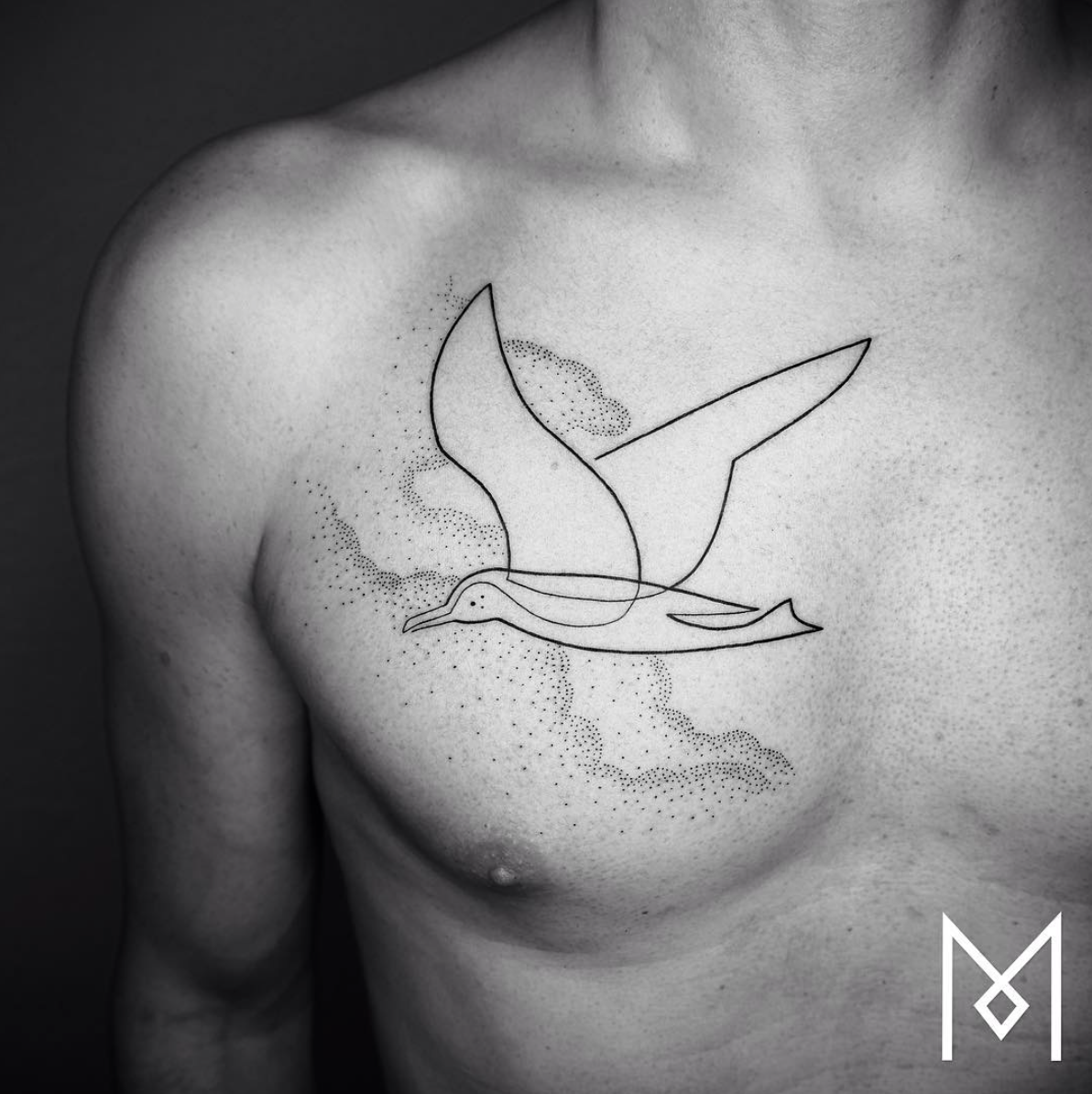 MoGanji, les tatouages faits d'une seule ligne