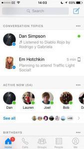 Les sujets de conversation Messenger