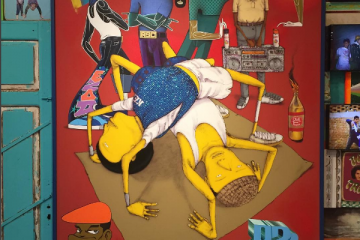 OsGemeos, les tags aux influences hip-hop brésilien