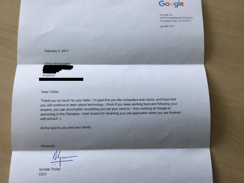 Réponse du DG Google