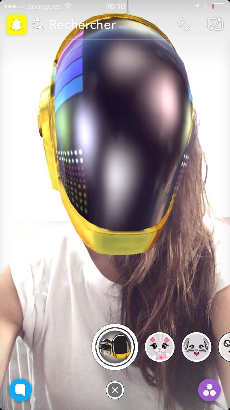 Soraya, filtre snapchat Daft Punk