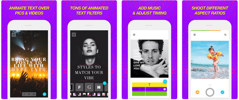Application HypeType pour Customiser Instagram Stories