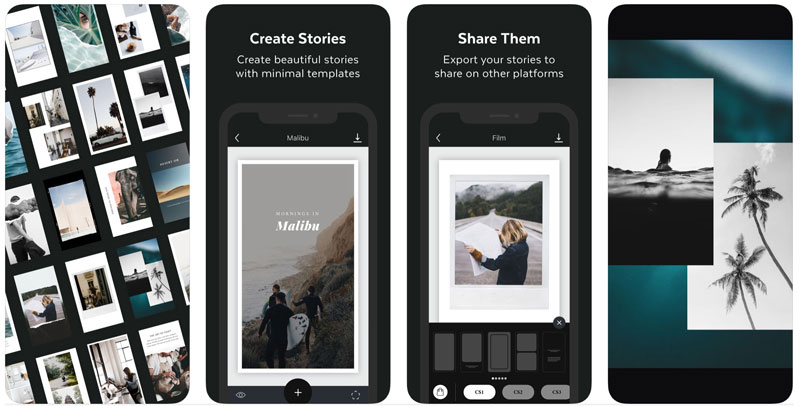 Application Unfolsd pour Customiser Instagram Stories