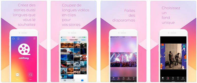 Application Cut Story pour Customiser Instagram Stories
