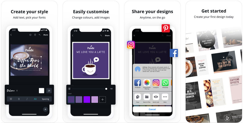 Application Canva pour Customiser Instagram Stories