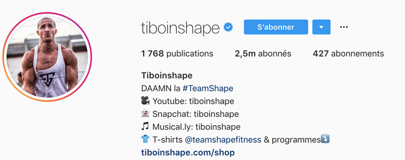 Hashtags Biographie Instagram
