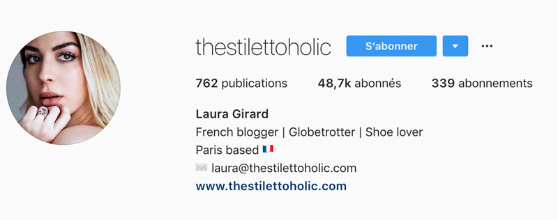 Personnaliser biographie Instagram