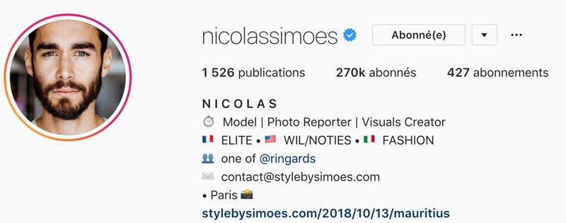 Rédiger bio Instagram