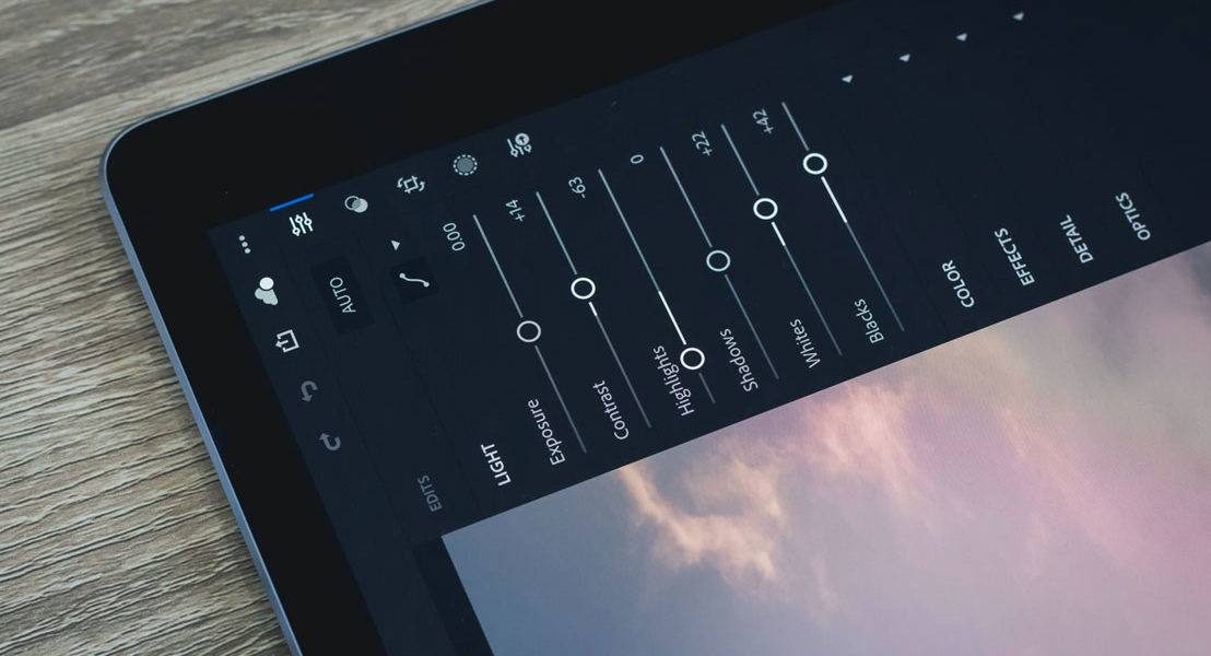 Lightroom Mobile sur un iPad