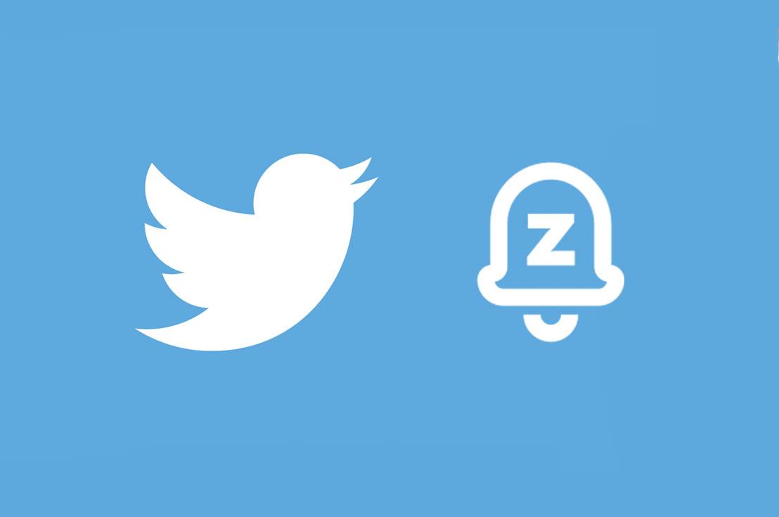 Logo Twitter avec le bouton Snooze