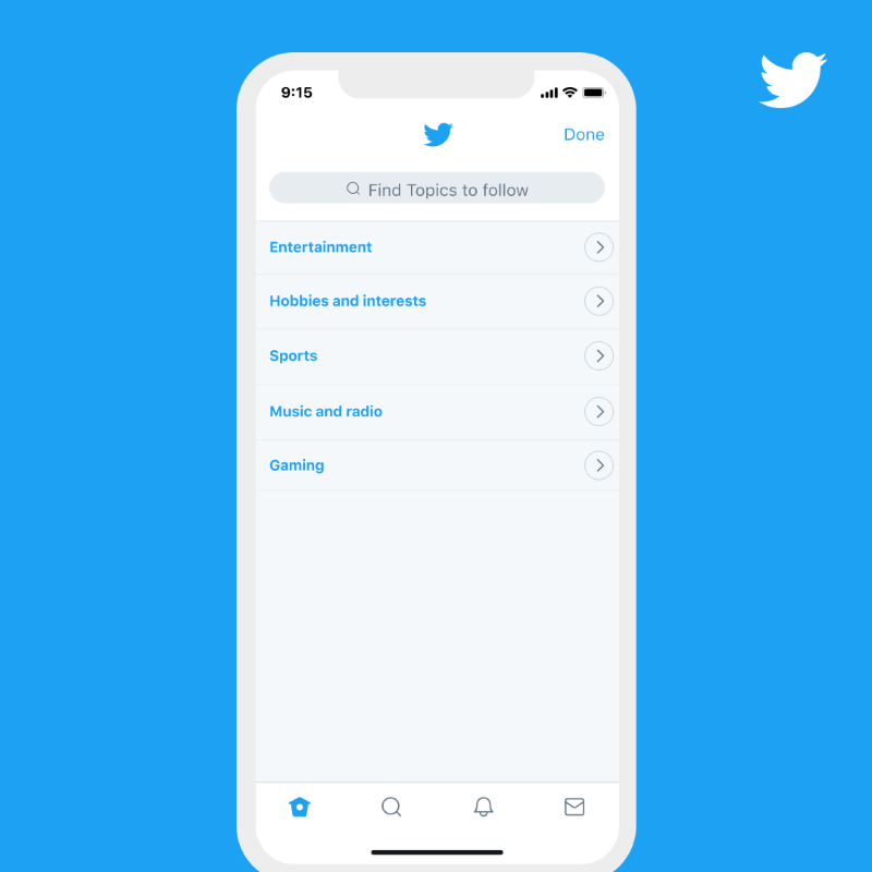 Twitter topics