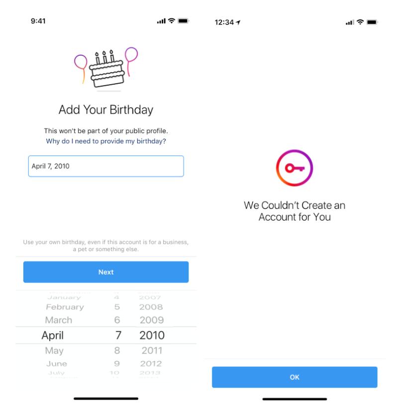 instagram fonctionnalités âge