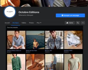 octobre éditions Facebook shops